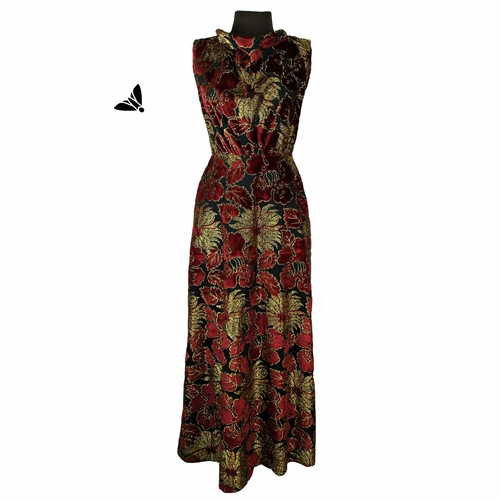 Vintage Abiye Elbise - Boyandım Çiçekler Rengine
