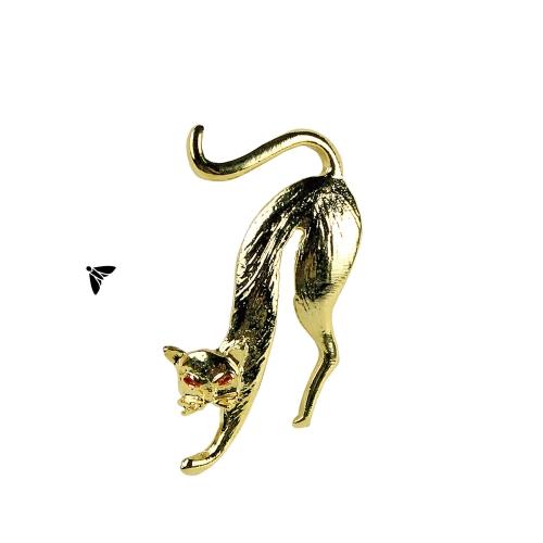 Vintage Broş - Çatılardan Düşmekte Kediler