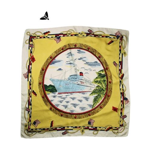 Vintage Fular - Gönlüm Güvertede Sereserpe