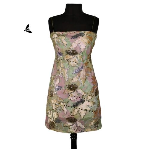 Vintage Elbise - İnce Saydam Yapraklarıyla