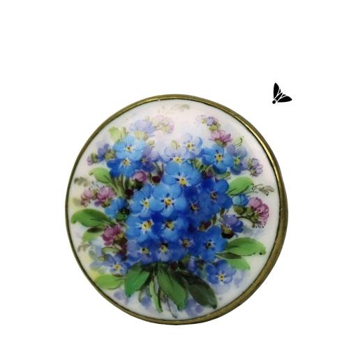 Vintage Broş - İçinde Tüm Çiçekler