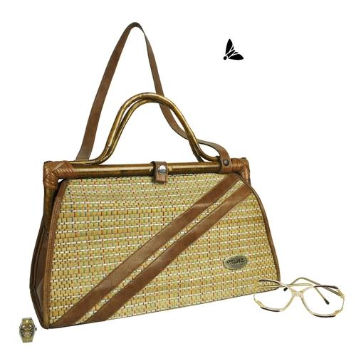 Vintage Hasır Çanta - Kıyılara Götür Beni