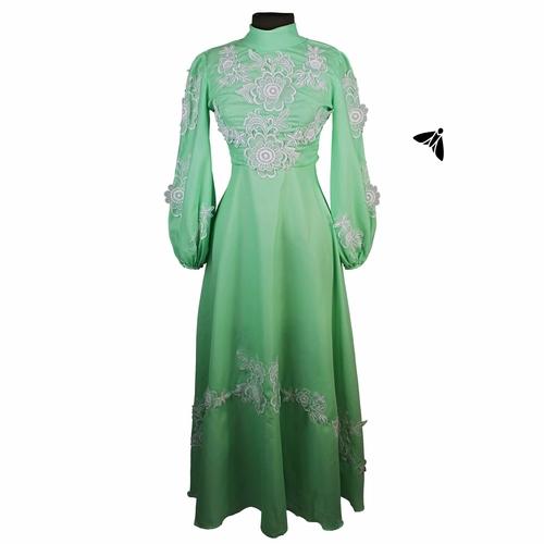 Vintage Abiye Elbise - Arsızlığına Çimenin Çiçeğin