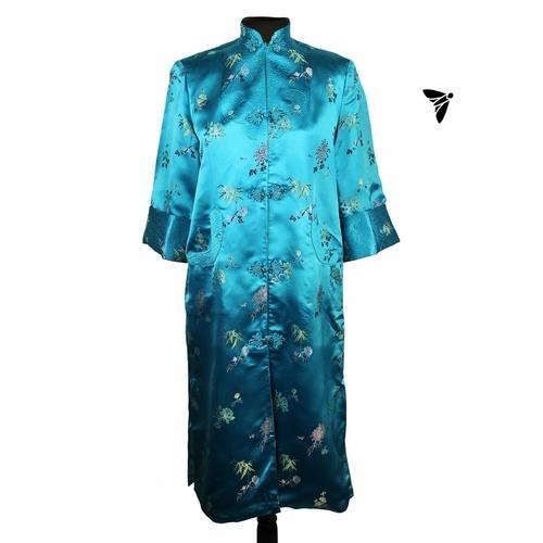 Vintage Cheongsam Elbise - Sardunya Kokusuyla Yazdan