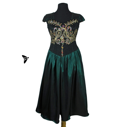 Vintage Abiye Elbise - Tülleriyle Titreyerek Donuyordu