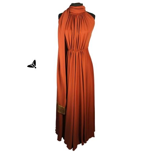 Vintage Abiye Elbise - Yanık Tenli Omuzunda