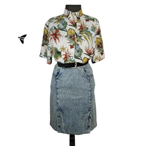 Vintage Gömlek - Seni Görmezse Çiçekler