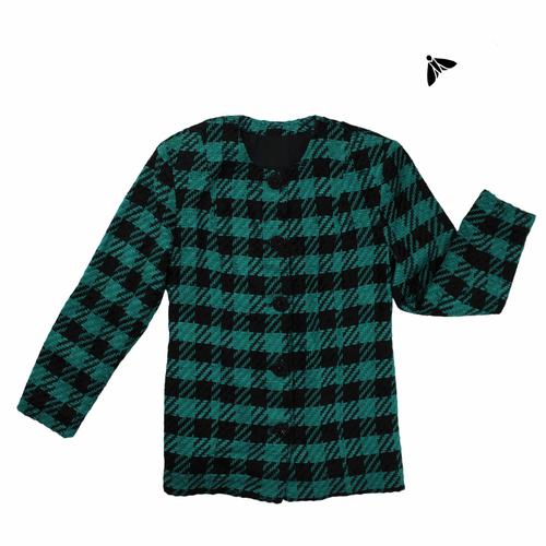 Vintage Ceket - Yeşil Gibi Dikey Gibi