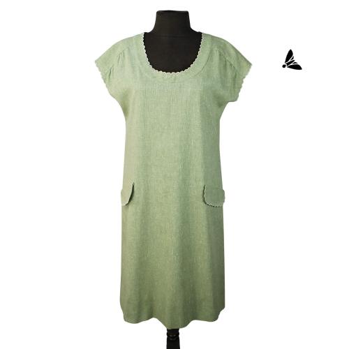 Vintage Elbise - Yeşil Otlar Bakması