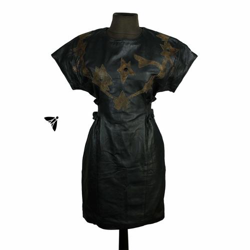 Vintage Deri Elbise - Yıldızları Kendinden Dipte
